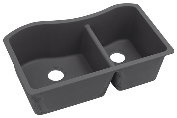 "Elkay Quartz Luxe 32-1/2"" x 20"" x 10"", 60/40 Double Bowl Undermount Sink"