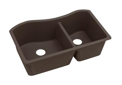 "Image for Elkay Quartz Luxe 32-1/2"" x 20"" x 10"", 60/40 Double Bowl Undermount Sink, Chestnut from ELKAY"