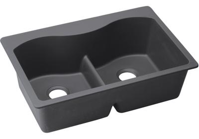 "Image for Elkay Quartz Luxe 33"" x 22"" x 9-1/2"", Equal Double Bowl Top Mount Sink with Aqua Divide from ELKAY"