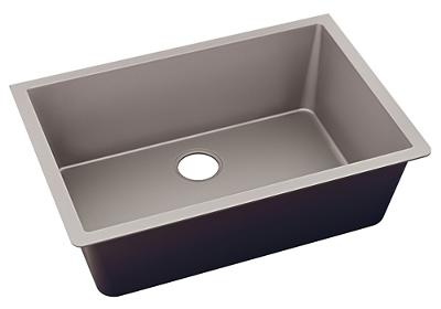"Image for Elkay Quartz Luxe 33"" x 18-7/16"" x 9-7/16"", Single Bowl Undermount Sink, Silvermist from ELKAY"