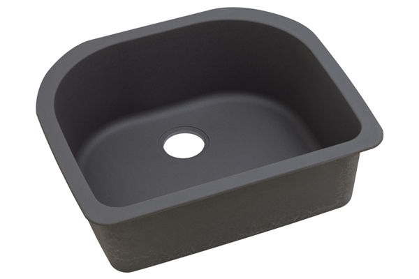 "Elkay Quartz Luxe 25"" x 22"" x 8-1/2"", Single Bowl Undermount Sink"