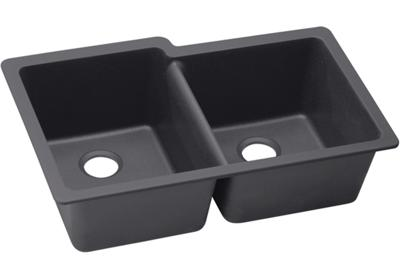 "Image for Elkay Quartz Luxe 33"" x 20-1/2"" x 9-1/2"", Offset Double Bowl Undermount Sink from ELKAY"