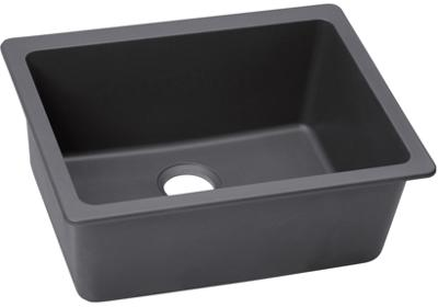 "Image for Elkay Quartz Luxe 24-5/8"" x 18-1/2"" x 9-1/2"", Single Bowl Undermount Sink, Charcoal from ELKAY"