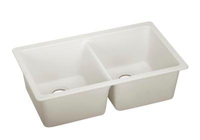 "Image for Elkay Quartz Luxe 33"" x 18-1/2"" x 9-1/2"", Equal Double Bowl Undermount Sink, Ricotta from ELKAY"