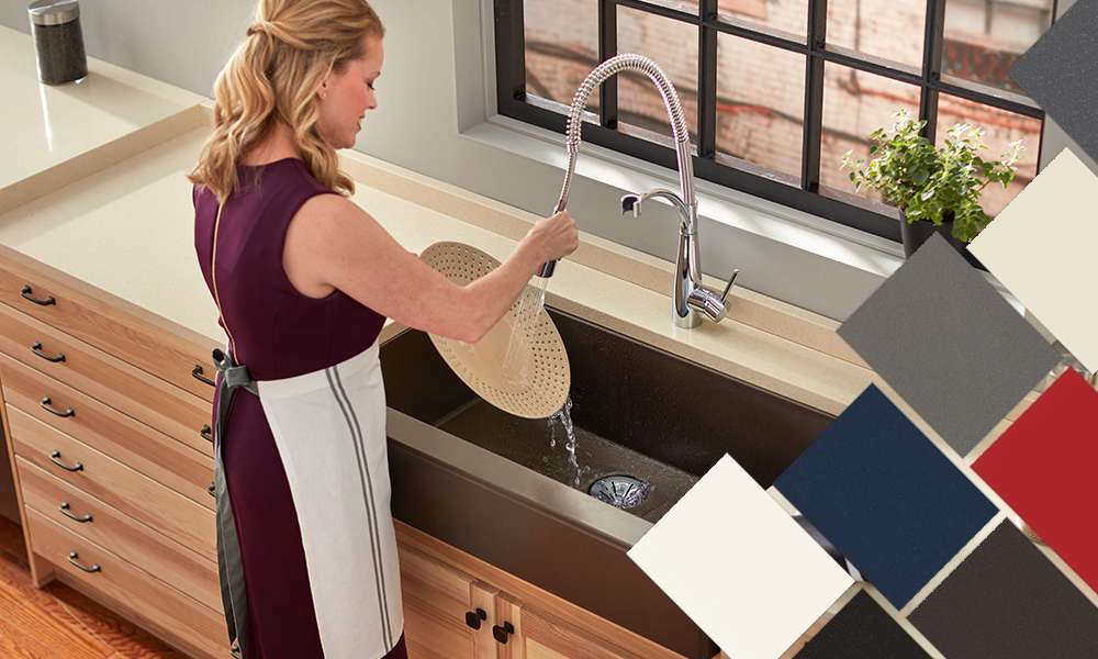 Elkay Quartz Kitchen Sinks Bold Granite Colors Sleek Luxe And