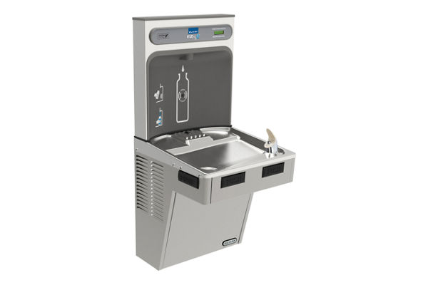 Elkay EZH2O Bottle Filling Station with Single ADA Cooler, Non-Filtered 8 GPH Light Gray