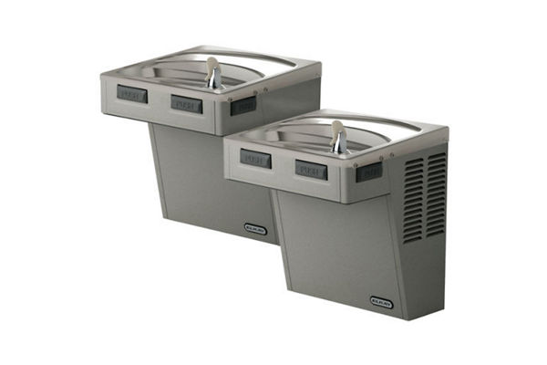 Elkay Wall Mount Bi-Level ADA Cooler, Non-Filtered 8 GPH Light Gray Granite