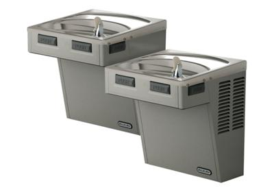 Image for Elkay Wall Mount Bi-Level ADA Cooler, Non-Filtered Non-Refrigerated Stainless from ELKAY