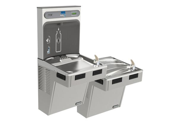 Image for Elkay EZH2O Bottle Filling Station with Bi-Level ADA Cooler, Non-Filtered Non-Refrigerated Light Gray from Elkay Latin America