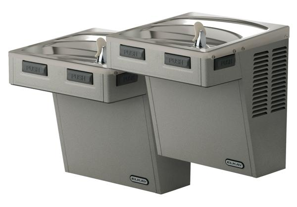 Image for Elkay Wall Mount Bi-Level Reverse ADA Cooler, Non-Filtered 8 GPH Light Gray Granite from Elkay Latin America