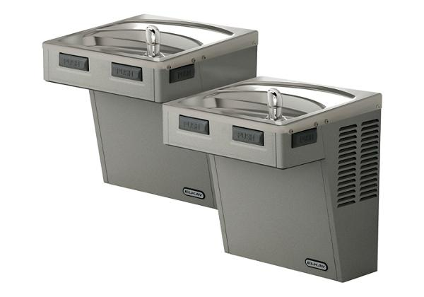 Image for Elkay Wall Mount Bi-Level ADA Cooler, Non-Filtered 8 GPH Light Gray Granite from Elkay Latin America