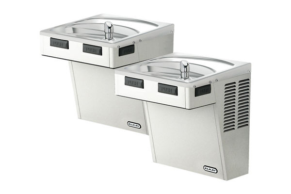 Elkay Wall Mount Bi-Level ADA Cooler, Non-Filtered, Non-Refrigerated Stainless