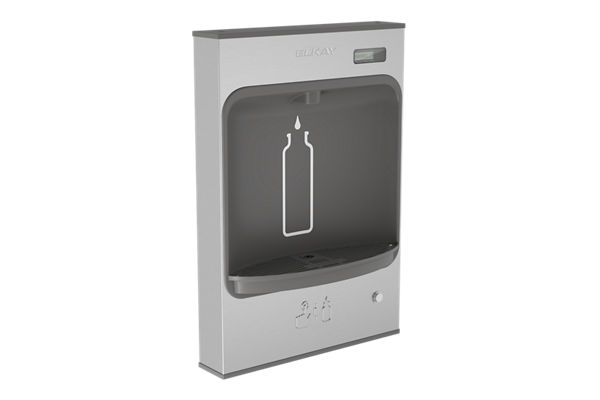Elkay EZH2O Mechanical Bottle Filling Station Surface Mount, Battery Powered Non-Filtered Non-Refrigerated Stainless