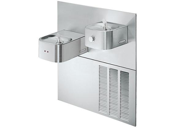 Image for Elkay Soft Sides Fountain Bi-Level Reverse ADA Hands-Free, Non-Filtered 8 GPH Stainless from Elkay Latin America