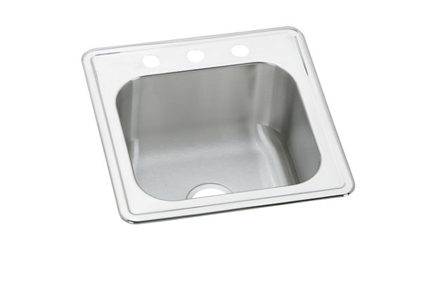 "Elkay Celebrity Stainless Steel 20"" x 20"" x 10-1/8"", Single Bowl Top Mount Laundry Sink"