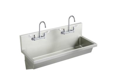 "Image for Elkay Stainless Steel 48"" x 20"" x 8"", Wall Hung Multiple Station Hand Wash Sink Kit from ELKAY"