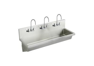 "Image for Elkay Stainless Steel 72"" x 20"" x 8"", Wall Hung Multiple Station Hand Wash Sink Kit from ELKAY"