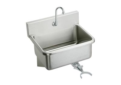 "Image for Elkay Stainless Steel 25"" x 19.5"" x 10-1/2"", Wall Hung Single Bowl Hand Wash Sink Kit from ELKAY"