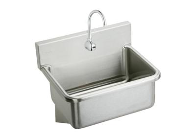 "Image for Elkay Stainless Steel 31"" x 19.5"" x 10-1/2"", Wall Hung Single Bowl Hand Wash Sink Kit from ELKAY"