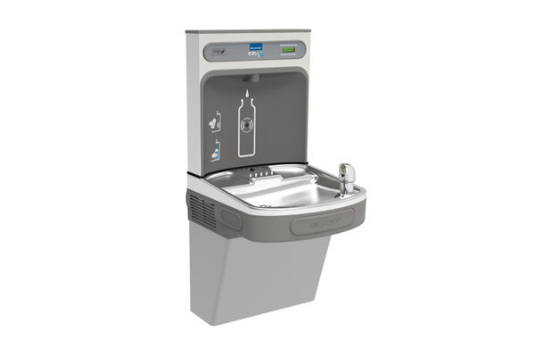 Elkay EZH2O Bottle Filling Station with Single ADA Cooler, Non-Filtered 8 GPH Light Gray 220V