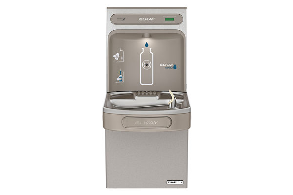 Elkay EZH2O Bottle Filling Station with Single Green ADA Cooler, Non-filtered, 8 GPH, Light Gray