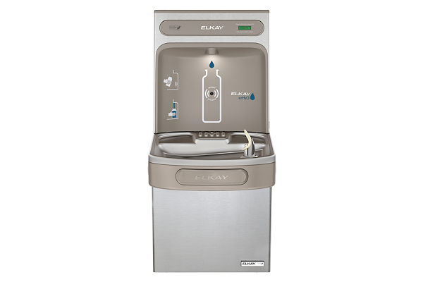 Elkay EZH2O Bottle Filling Station with Single Green ADA Cooler, Non-filtered, 8 GPH, Stainless