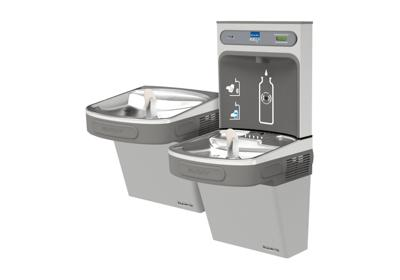 Image for Elkay EZH2O Bottle Filling Station with Versatile Bi-Level ADA, Cooler Non-Filtered 8 GPH Light Gray 220V from ELKAY