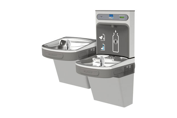 Elkay EZH2O Bottle Filling Station with Versatile Bi-Level ADA, Cooler Non-Filtered 8 GPH Light Gray 220V