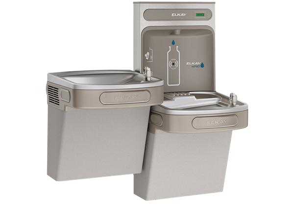 Image for Elkay EZH2O Bottle Filling Station & Versatile Bi-Level ADA Cooler, Non-Filtered 8 GPH Light Gray from Elkay Latin America