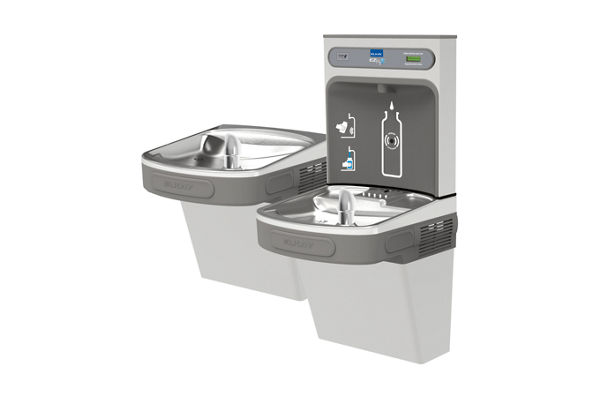 Elkay EZH2O Bottle Filling Station with Versatile Bi-Level ADA, Cooler Non-Filtered 8 GPH Stainless 220V
