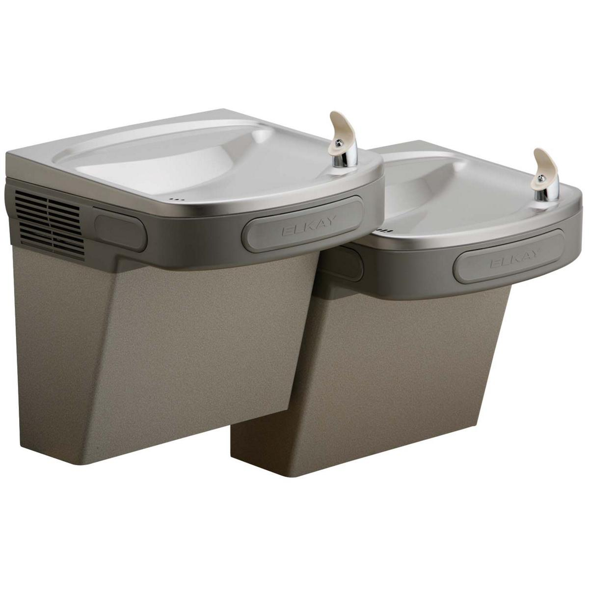 Elkay Versatile Cooler Wall Mount Bi-level ADA Non-filtered, Non-refrigerated Light Gray Granite 1259909