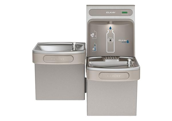Image for Elkay EZH2O Bottle Filling Station & Versatile Bi-Level ADA Cooler, Non-Filtered Non-Refrigerated Light Gray from Elkay Latin America