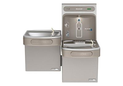 Image for Elkay EZH2O Bottle Filling Station with Versatile Bi-Level Green, ADA Cooler Non-Filtered 8 GPH Light Gray from ELKAY