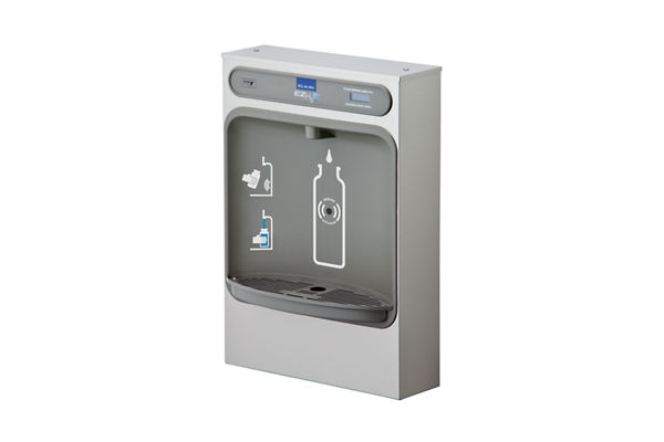 Elkay EZH2O Bottle Filling Station Surface Mount Non-Filtered, Non-Refrigerated Stainless 220V