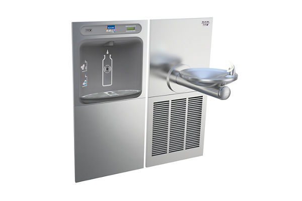 Elkay EZH2O Bottle Filling Station & SwirlFlo Single Fountain, High Efficiency Non-Filtered 8 GPH Stainless
