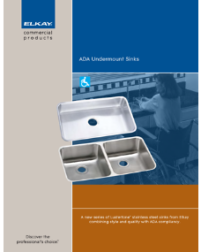 ADA undermount sink (F-4254)