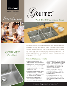 2009 Gourmet Work Shelf Brochure (F-4342)