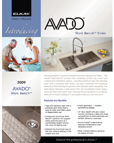 2009 Avado Work Bench Brochure (F-4355)