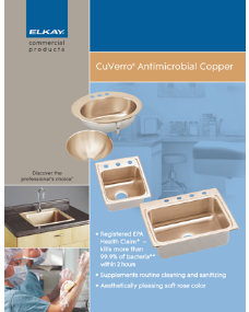 CuVerro Antimicrobial Copper Sinks (F-4507)