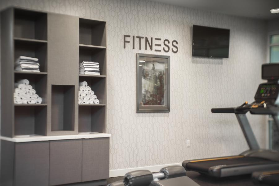 Schaumburg Hotel Millwork - Fitness Center