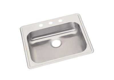 "Image for Dayton Stainless Steel 25"" x 21-1/4"" x 5-3/8"", Single Bowl Top Mount Sink from ELKAY"