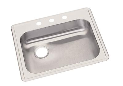 "Image for Dayton Stainless Steel 25"" x 22"" x 5-3/8"", Single Bowl Top Mount Sink from ELKAY"