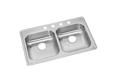 "Image for Dayton Stainless Steel 33"" x 21-1/4"" x 5-3/8"", Equal Double Bowl Top Mount Sink from ELKAY"
