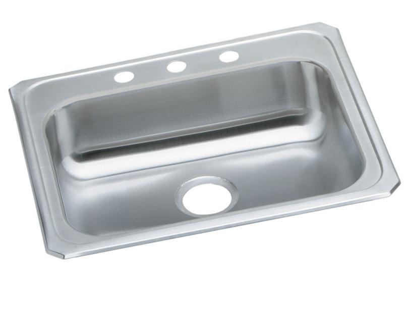 Elkay celebrity stainless steel 2534 x 21 1434 x 5 3834 elkay celebrity stainless steel 2534 x 21 1434 x 5 3834 single bowl top mount sink elkay workwithnaturefo