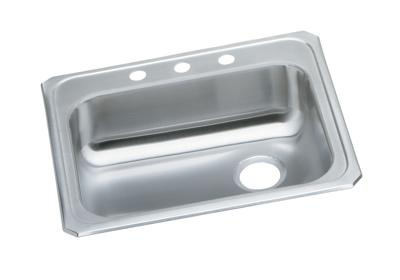 "Image for Elkay Celebrity Stainless Steel 25"" x 21-1/4"" x 5-3/8"", Single Bowl Top Mount Sink from ELKAY"
