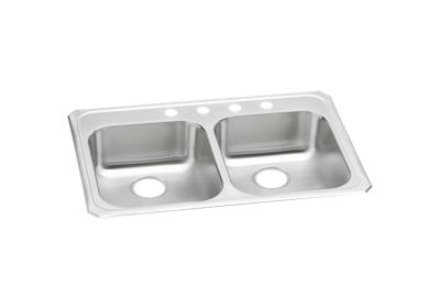 "Image for Elkay Celebrity Stainless Steel 33"" x 21-1/4"" x 5-3/8"", Equal Double Bowl Top Mount Sink from ELKAY"