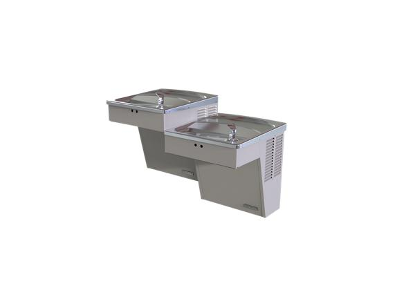 Image for Halsey Taylor Wall Mount Bi-Level ADA Cooler, Hands-Free Non-Filtered 8 GPH Platinum Vinyl from Halsey Taylor
