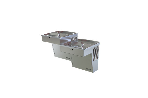 Halsey Taylor Wall Mount Bi-Level ADA Cooler, Hands-Free Non-Filtered 8 GPH Stainless