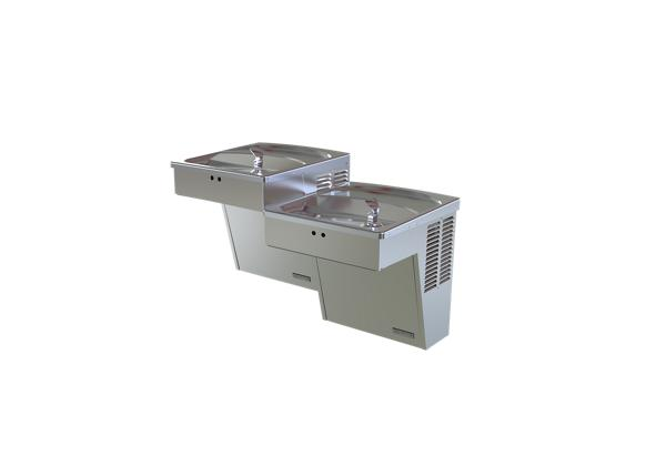 Image for Halsey Taylor Cooler, Wall Mount, Bi-Level, ADA, Hands-Free, Non-Filtered, 8 GPH, Stainless from Halsey Taylor