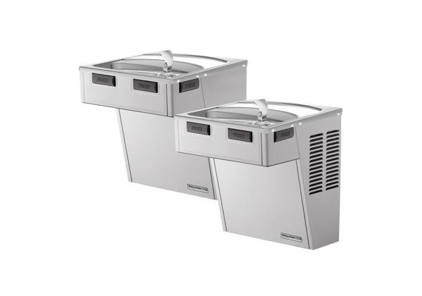 Image for Halsey Taylor Cooler, Wall Mount, Bi-Level, ADA, Non-Filtered, Non-Refrigerated, Platinum Vinyl from Halsey Taylor